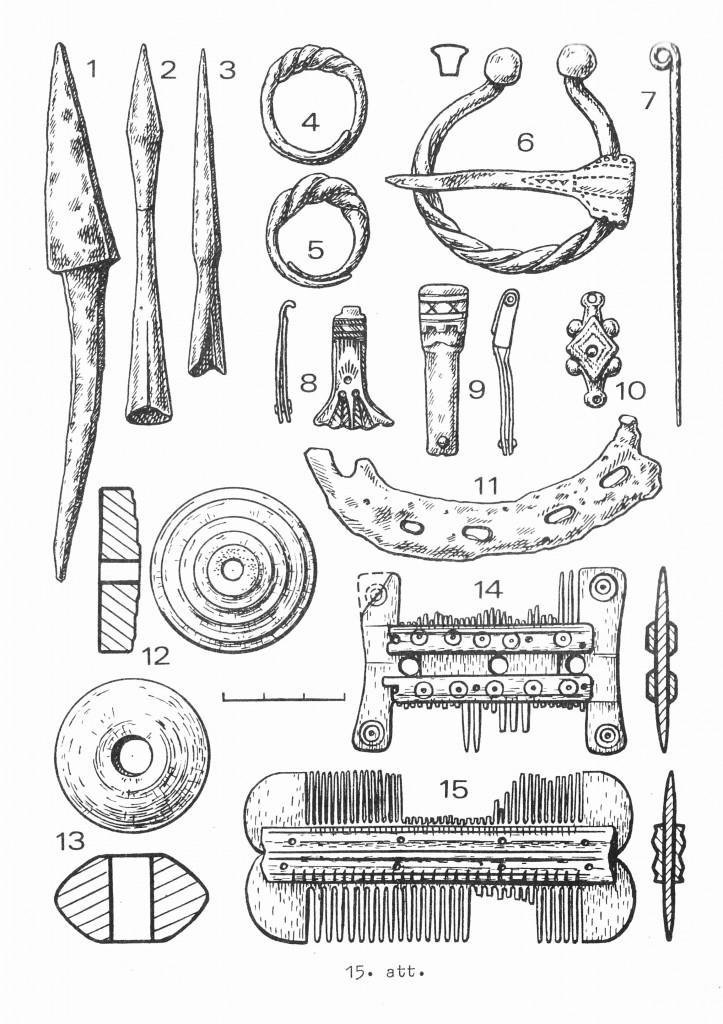 Находки археологического сезона 1988 года на Домской площади.