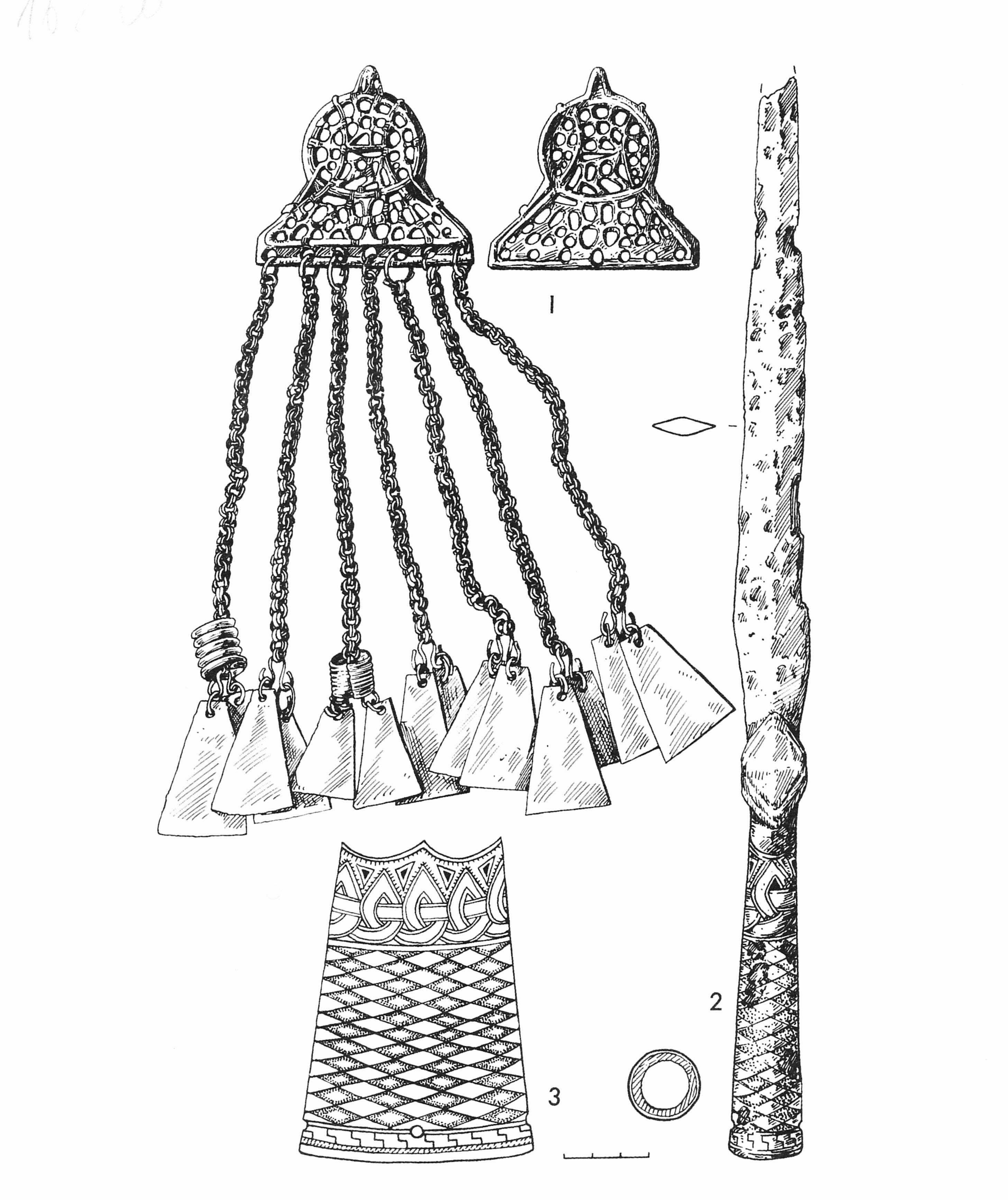 Находки скандинавского происхождения с латгальского могильника Драбешу Лиепини.