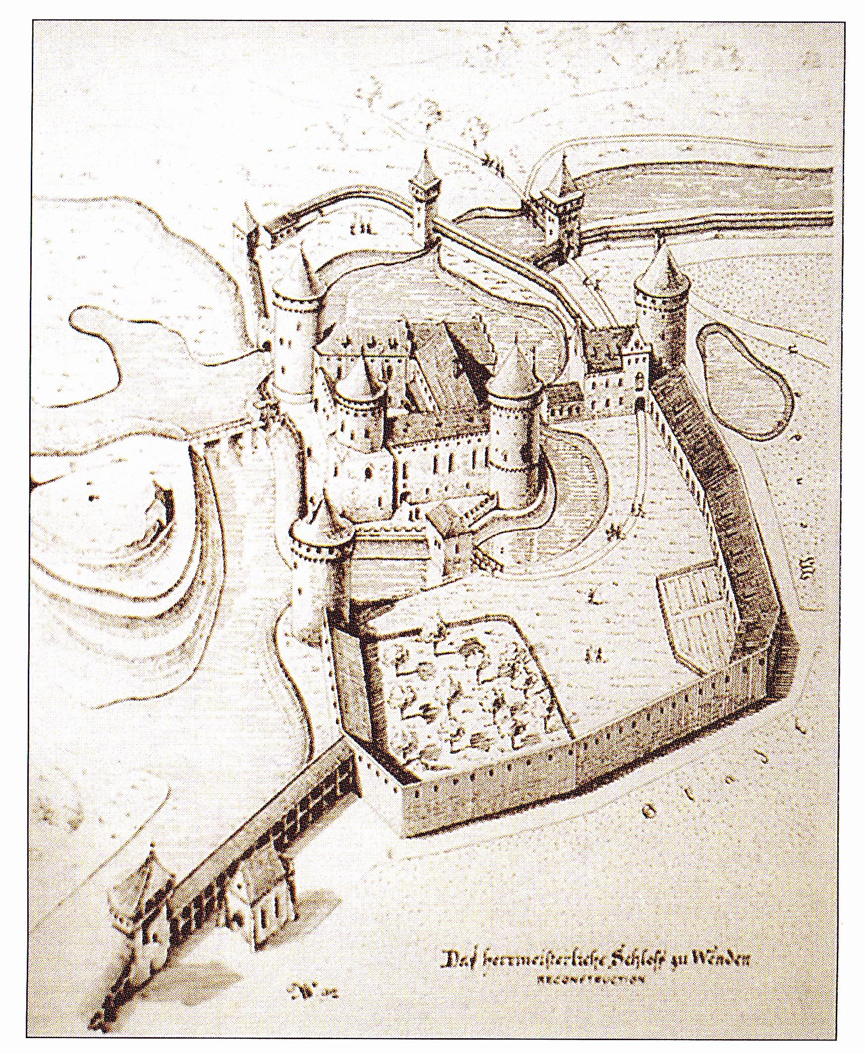 Реконструкция облика замка в XVII веке.