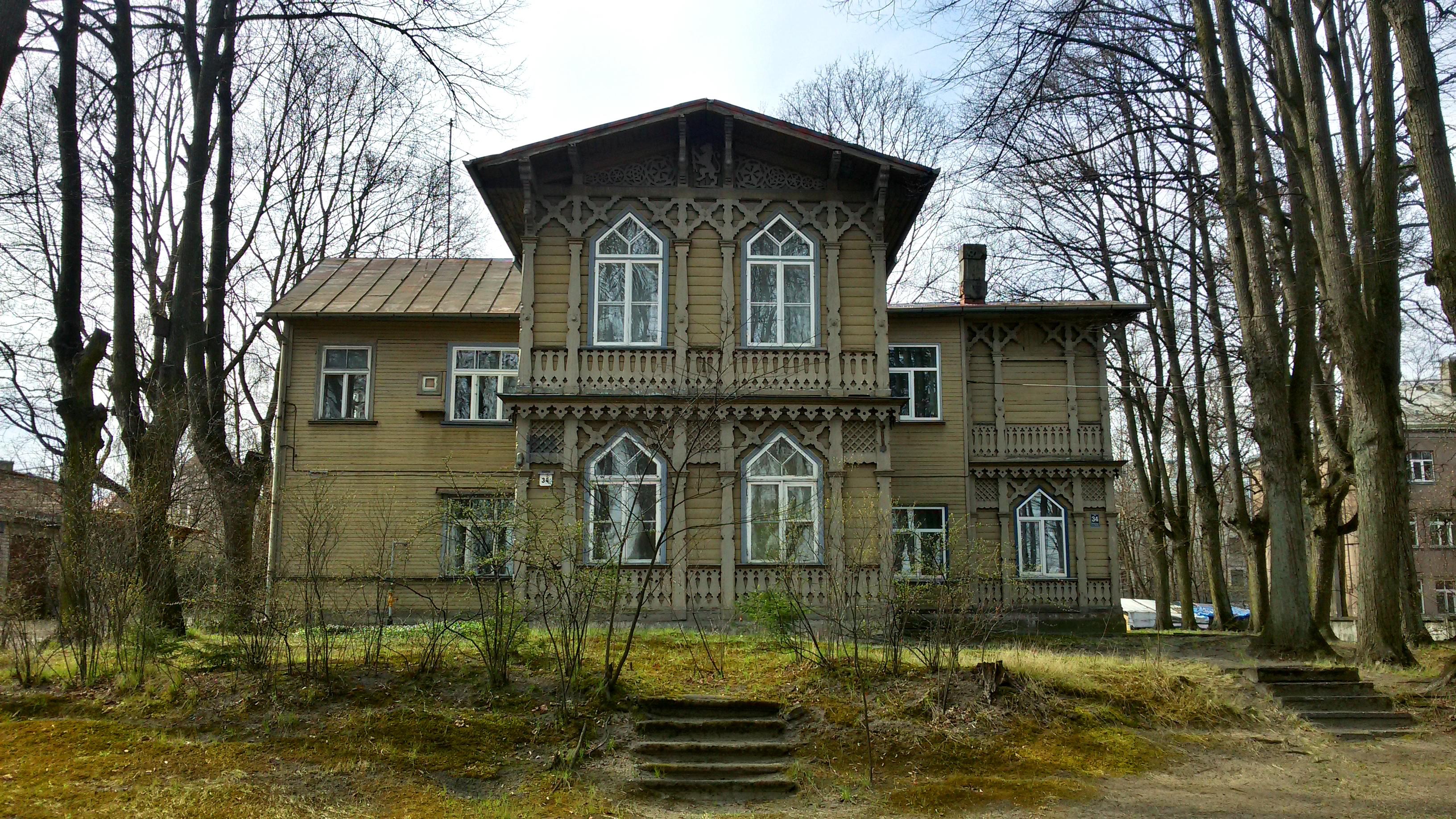 Особняк по адресу Даугавгривас 34, 1880, архитектор Р. Флюг.