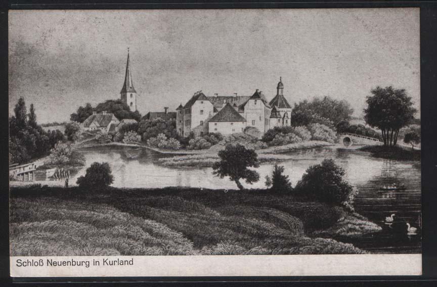 Панорама Яунпилса. Гравюра XIX века.