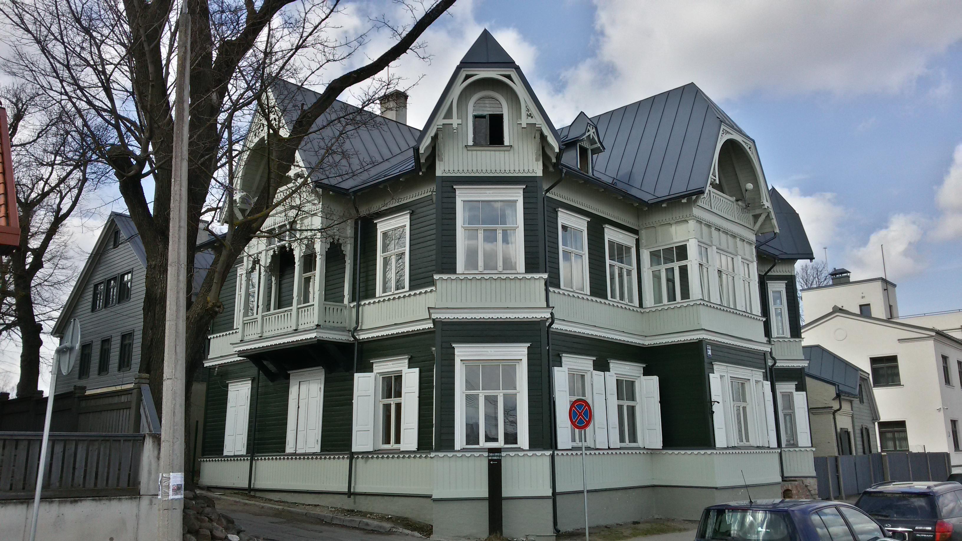 Дом на Баласта дамбис 38/40, архитектор Я. Алкснис, 1907 год.