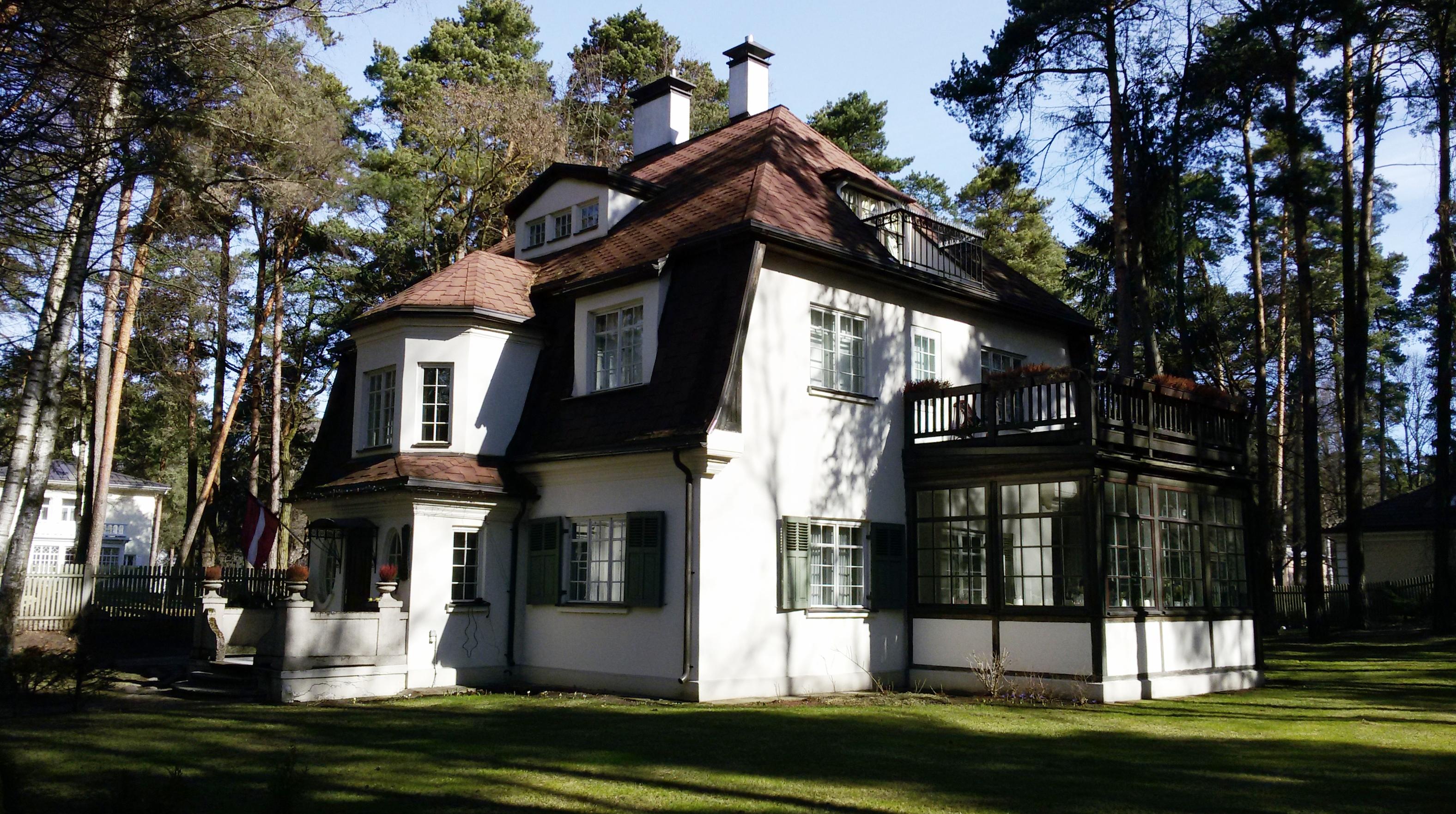 Личный дом архитектора Г. фон Тизенгаузена на ул.Щецинас, 5, 1912 год.