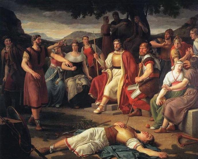 Смерть Бальдра. Художник КристоферВильгельм Экерсберг, 1817 год.