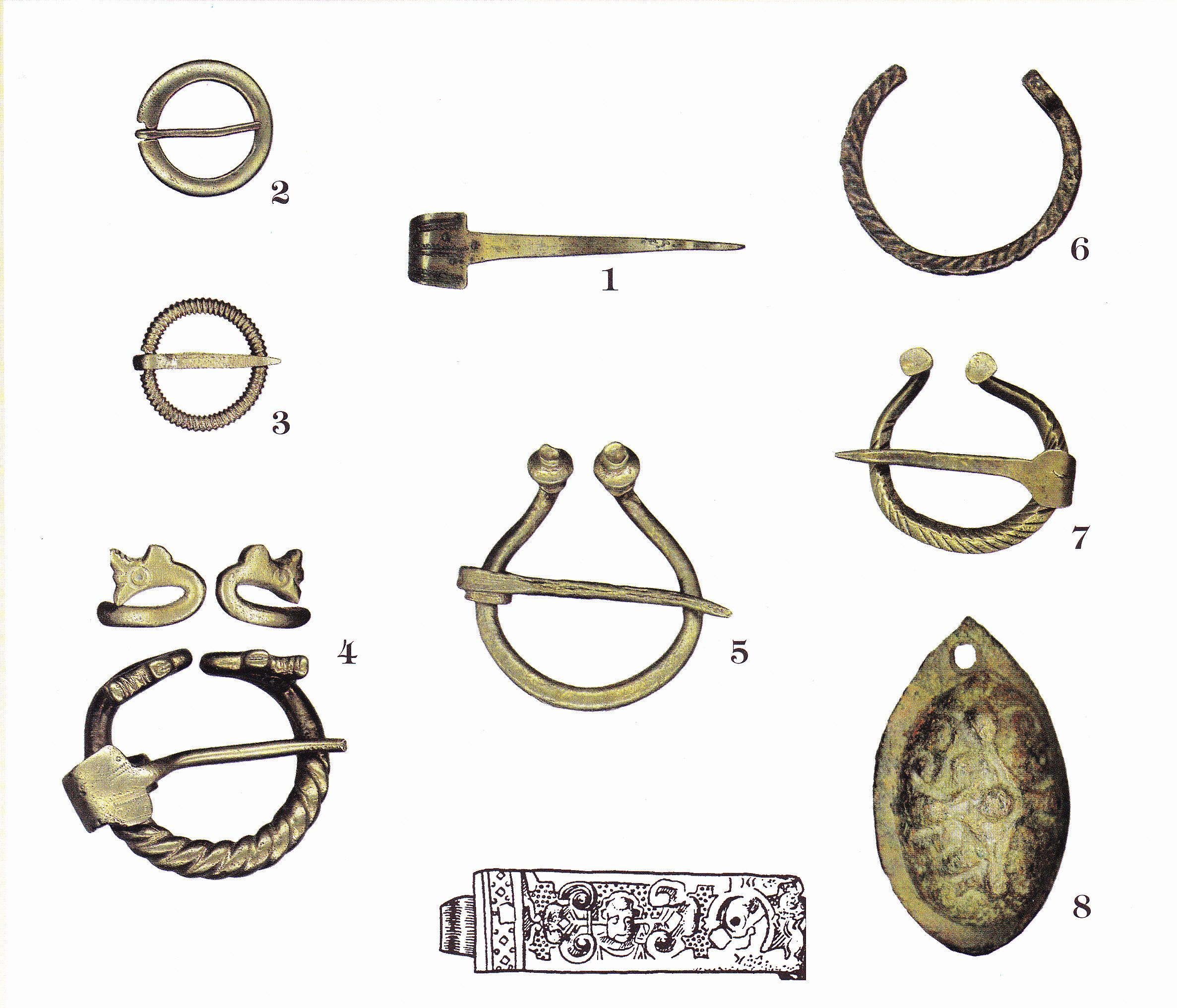 Археологические находки с территории Турайдского замка.
