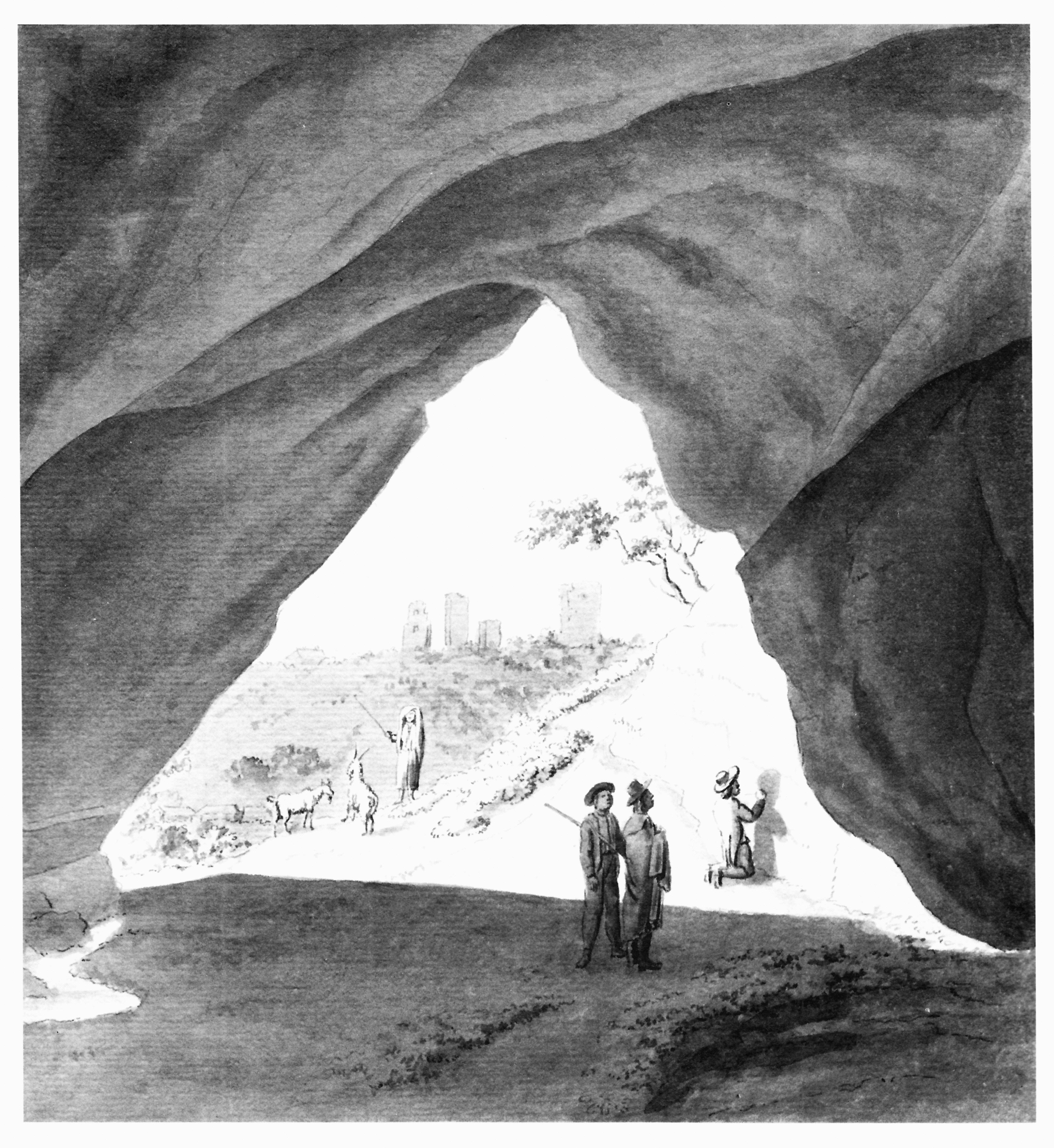 Пещера Гутмана. Рисунок И.К. Броце, 1784 год.